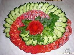 How To Decorate Salad Tray