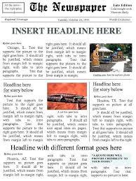 Newspaper Microsoft Word Template Metabots Co