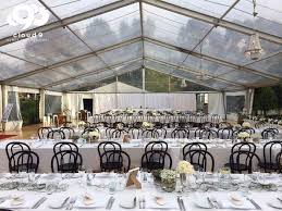 marquee wedding private home tennis court love bentwood chairs clear roof w
