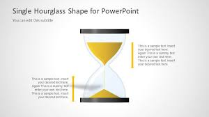 Hourglass Chart Excel Hourglass Of Time Shapes For Powerpoint