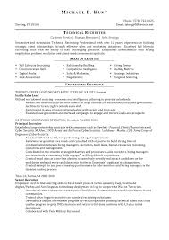 technical recruiter resume sample ideas technical x cover letter gallery of junior recruiter resume