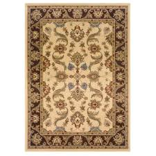 lr resources adana cream brown 8 ft x 10 ft durable indoor area