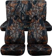 gray real tree camo car seat covers