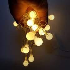 Đèn led dây trang trí tiệc bóng tròn cherry nhỏ 3m 18 bóng đèn không chớp  nháy cắm điện