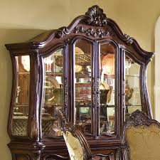 Michael Amini Chateau Beauvais China Cabinet Glass Hutch ...