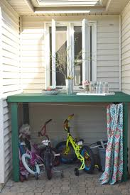how to hide kids outdoor toys a diy storage solution