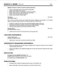 Barack Obama Resume Cool Barack Obama Obama Resume Best Free Resume Resume Template Ideas