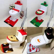 santa toilet seat cover and rug set uk s honana