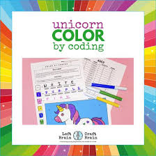 *identity information can only be submitted once and cannot be modified after. Color By Coding Unicorn Coloring Page Left Brain Craft Brain