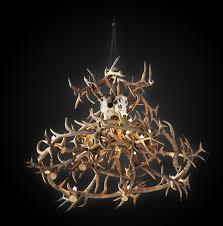 antler chandelier 3d model max obj fbx mtl 2