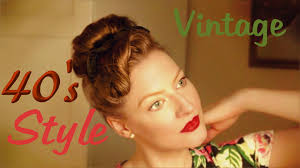 Retro Hair Style retro hairstyle easy 1940s evening updo youtube 2830 by wearticles.com