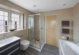 large space shower curtain or glass door