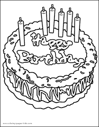 Small Picture Birthday color page Coloring pages for kids Holiday Seasonal