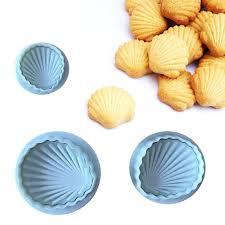 <b>TTLIFE</b> 3Pcs/set White Big Famous <b>Sea Shell</b> Shape 3D Fondant ...
