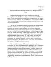 compare and contrast the social aspects of mesopotamia and compare and contrast the social aspects of mesopotamia and jake stevens period 1 absent 9 21 compare and contrast the social aspects of