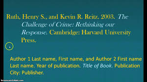 Asa Citation Book With Two Authors
