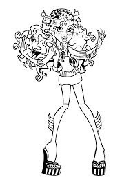 Small Picture Lagoona Blue Monster high coloring pages for kids printable free