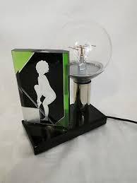 <b>Art</b> Deco Lamp with Artistic Figural <b>Hand Engraving</b> | eBay