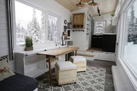 furniture for tiny houses. that\u0027s just the beginning. other clever tricks here include a built-in console at center of home, covered by sliding doors that can pull up into two furniture for tiny houses f