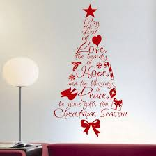 60 Wall Christmas Tree  Alternative Christmas Tree Ideas  Family Christmas Tree Decals