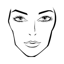 Download A Blank Face Chart Found On Polyvore Featuring