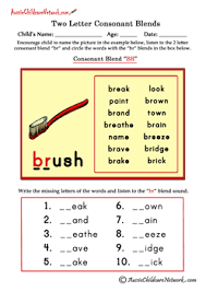 Free interactive exercises to practice online or download all worksheets only my followed users only my favourite worksheets only my own worksheets. Two Letter Blends Aussie Childcare Network