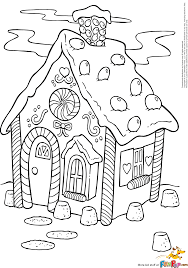 Gingerbread House Coloring Pages Printable - Coloring Home