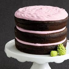 Chocolate Cake With Pink Vanilla Frosting Recipe Chatelainecom