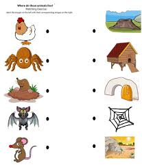 animal home clipart. Beautiful Clipart Animals Home Clipart Free Printable Matching To Their Worksheet 3 And Animal