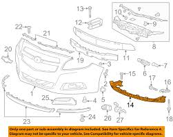 Chevrolet GM OEM 2013 Malibu Front Bumper Grille-lower Impact Bar ...