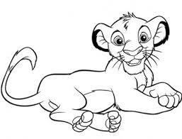 Disegno Di Simba Cucciolo Da Stampare Gratis E Colorare Il Re Leone