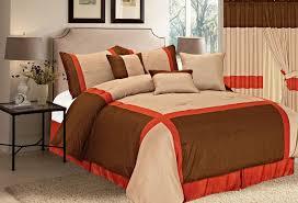 top 28 chocolate and burnt orange comforter set total