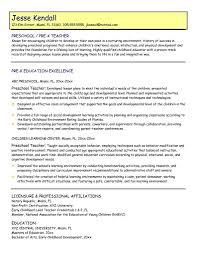 Preschool Teacher Resume Best Preschool Teacher Resume 48 Medmoryapp