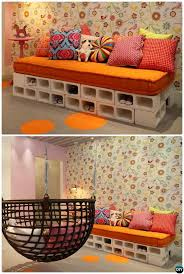 cinder block furniture. Simple Furniture DIY Cinder Block Sofa10 Concrete Furniture Projects To