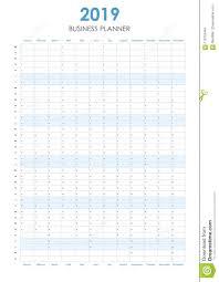 Business Planner For 2019 Stock Vector Illustration Of