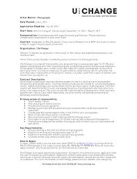 Captivating Photography Resume Sample On Resume Of A Professional