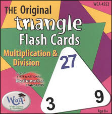Triangle Flash Cards Multiplication Division Wiebe Carlson And