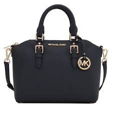 michael kors ciara saffiano leather medium messenger satchel bag admiral