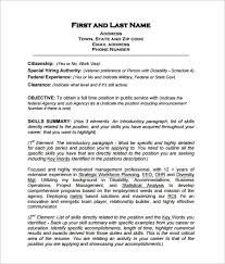 Government Resume Template Beauteous Federal Government Resume Template Free Best Resume Examples