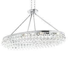 crystorama mini chandelier calypso 8 light crystal teardrop chrome oval chandelier crystorama paris flea market 4