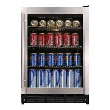 beverage 23 4 in 154 12 oz can cooler stainless steel