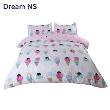 ahsnme bedding set ice cream duvet cover sets housse de couette king queen size deco sham lovely child bedspread black comforter sets queen king size
