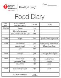 Sample Food Journal Template Food Diary Example Food Diary Food Tracking Nutrition
