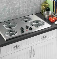 electric cooktops with downdraft coil cooktop