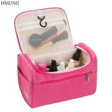 hmunii women travel makeup bag multifunction cosmetic bags polyester fashion waterproof storage toiletry bag organizer men case hm 01 makeup set makeup