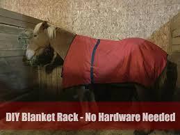 diy blanket rack no hardware needed