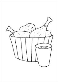 Fried Chicken In Bucket Coloring Page