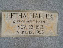 Letha Harper Harper (1913-1953) - Find A Grave Memorial