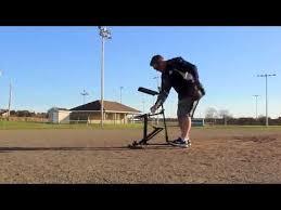 Louisville Slugger Black Flame Pitching Machine Youtube