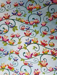 Patterned Paper Adorable A48 Pretty Owl Bird Patterned Paper Blue Pink Orange 48gsm NEW EBay